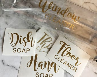 CUSTOM Household Cleaner Label
