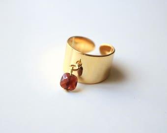 CID Garnet ring