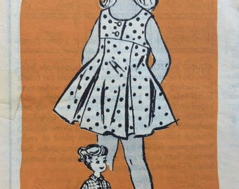 Mail order 4535 girls dress size 6 vintage 1950's sewing pattern  Uncut  Factory folds