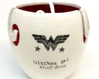 Wonder Woman XL Yarn Bowl Large