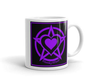 Pentacle Pagan Heart Cheeky Witch® Mug