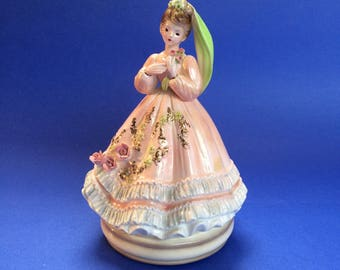 Charming Japanese Princess Girl Vintage Music Box Figurine figure