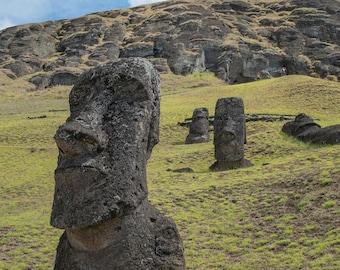 The Quarry II | Easter Island, Chile ~ Moai, statue, carving, bird man, Ahu Tongariki, Rapa Nui, Rano Raraku, Polynesia, stone