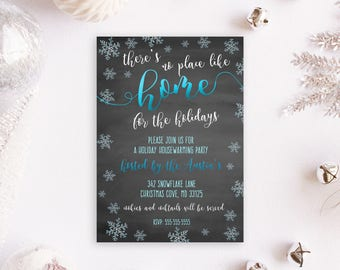 Housewarming Invites, Holiday Housewarming Party, Holiday Housewarming Invites, Housewarming Party Invitations, Christmas Party Invites, 106