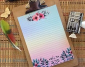 Floral Bouquets in Spring Writing Paper-Stationery-Note Paper-Lined
