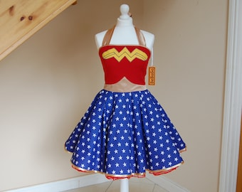 Wonder Woman inspired dress,cosplay dress,wonder woman costume