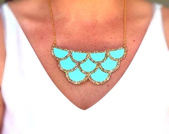Glitter Mermaid Scales Necklace