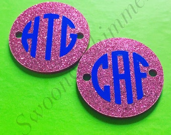 3 letters circle etsy for Circle letter beads