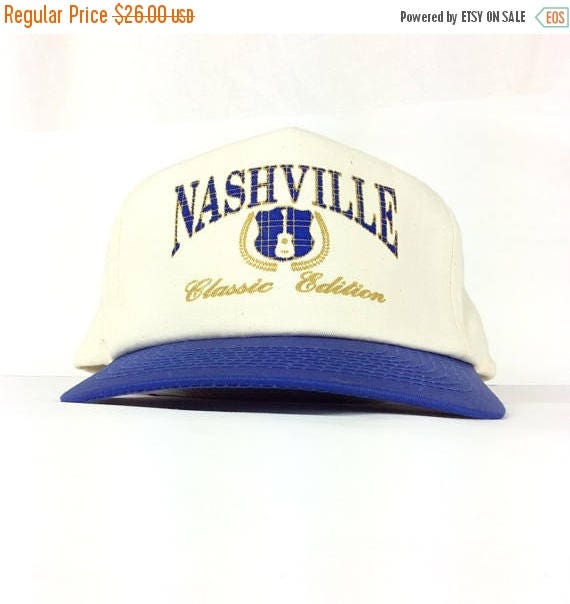 On Sale Now Vintage Nashville (Tennesse) Classic Edition Guitar Logo Canvas Baseball  Cap Hat 8e2dae77eb65
