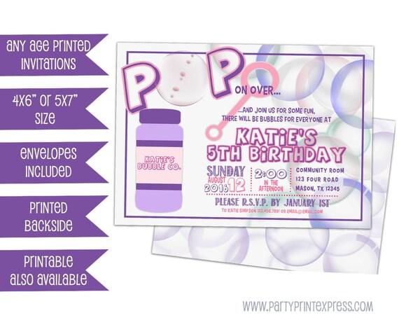 Pink bubbles birthday invitation girl bubble birthday invitations il570xn filmwisefo