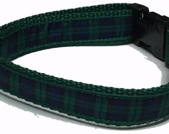 Dog Collar, Plaid - Black Watch