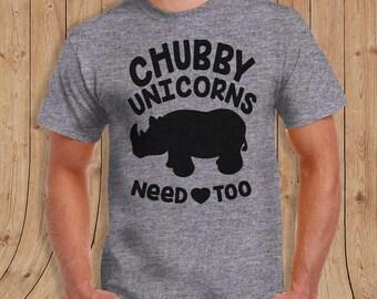 Chubby unicorns need love too t shirt- t-Shirt Mens / womens / kids