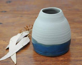RISING TIDE - Handmade Stoneware Vase - Wheel Thrown