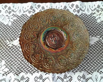Fenton Persian Medallion 1970 footed plate
