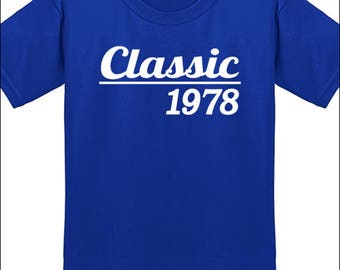 40th Birthday T Shirt Classic 1978 T-Shirt Milestone Birthday Party Gift