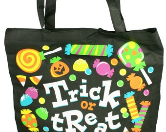 Halloween Trick or Treat Tote Bag Candy Carry Bag