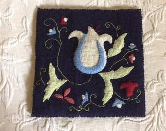 Wool Applique Trivet/Hot Pad