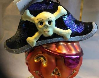 Christopher Radko Pirate Patch Halloween Ornament