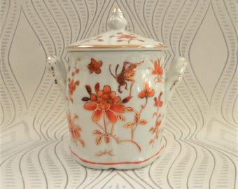 Trinket Box ACF Japanese Porcelain Ware Handled Lidded Pot Hong Kong Ceramics Home Decor Interior Collectable