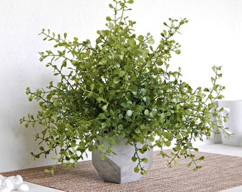 Small Summer Plant, Potted Greenery, Little Decorative Houseplant, Faux Chickweed, Artificial Plant, Porch Decor