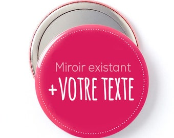 Mirror gift 58 mm customizable (text only)