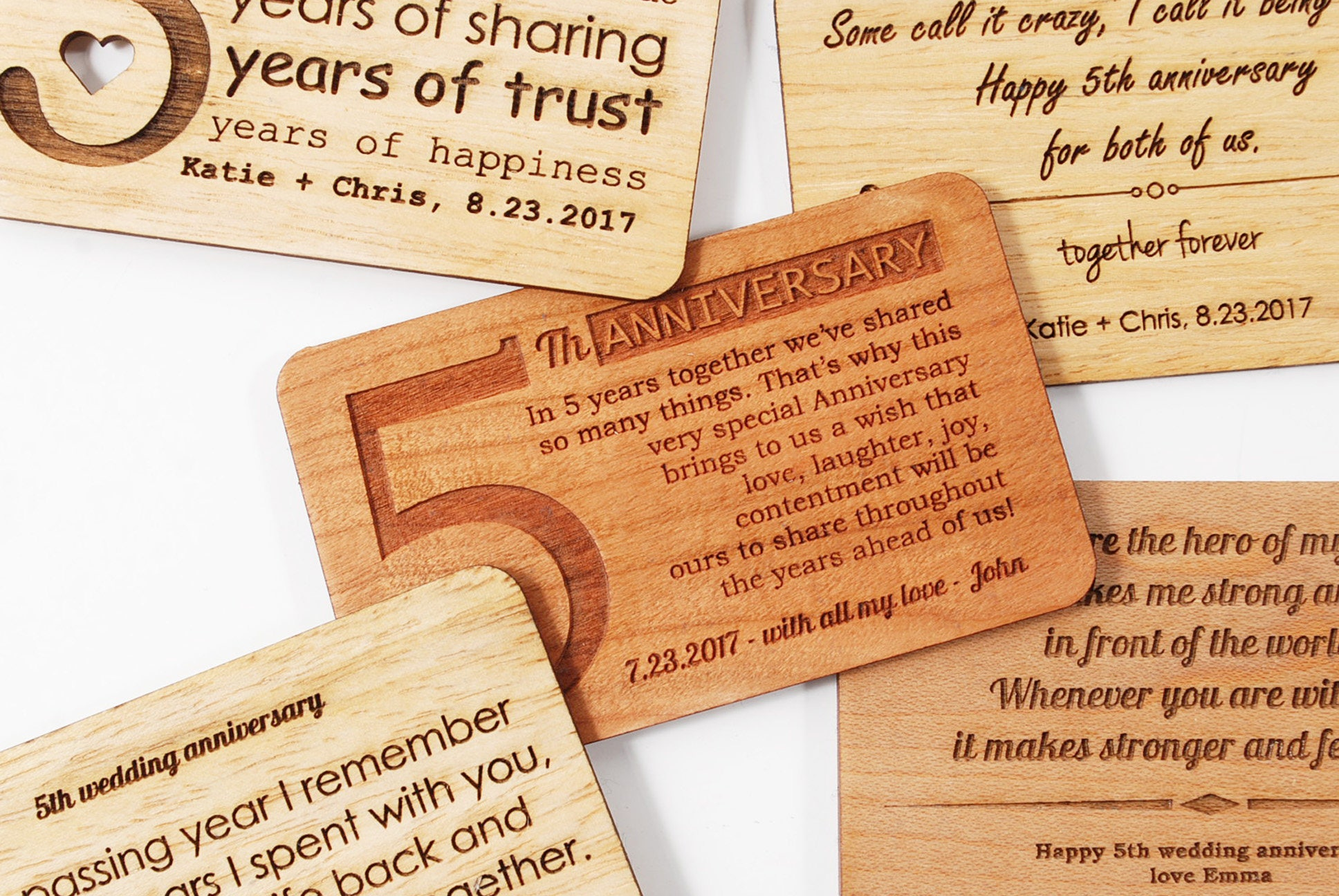 Custom wooden wallet insert card fifth wedding anniversary gift custom wooden wallet insert card fifth wedding anniversary gift custom anniversary wishes solid kristyandbryce Choice Image
