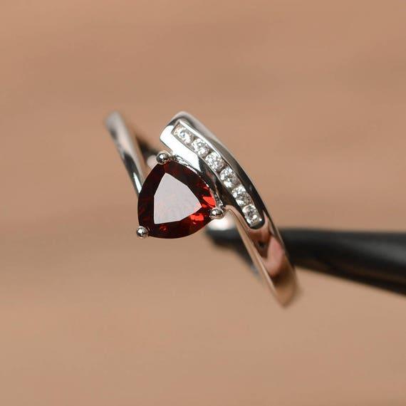 like this item - Garnet Wedding Ring
