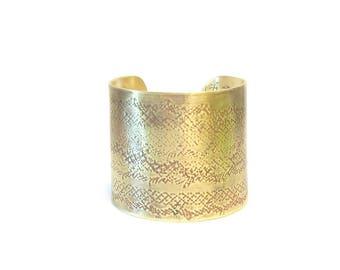Ethnic cuff - antique brass slave Bracelet-