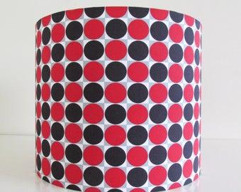 SALE** 25cm Geometric Lampshade Red Black