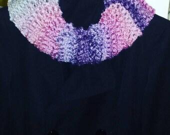 Loop neck warmer knitted in garter handmade handmade