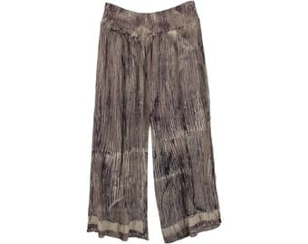 Radiant Silver Split Skirt Pants