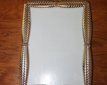 Vintage Picture or Photo Frame, Old Fashioned Metal Frame, Nice Design on the Edges, Home Decoration, Family Photos, Animal Photos for Frame