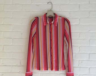 1990s_STRETCHY_STRIPED_BLOUSE