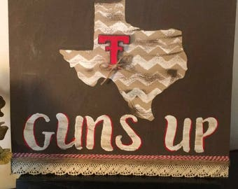 Guns Up - Texas Tech Sign