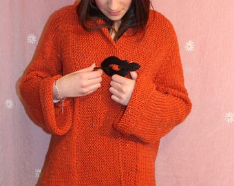 jacket, woolen woman on line, knitted handmade