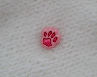 set of 8 dog paw buttons