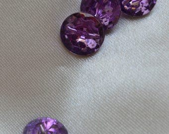 button way 11mm purple cabochon