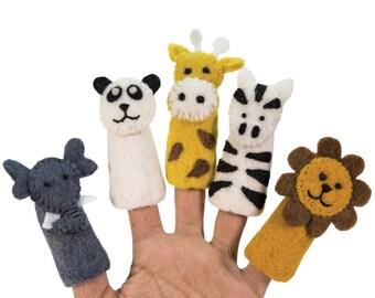 Safari Theme Finger Puppets Set