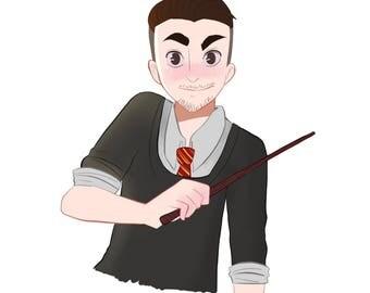 Custom Hogwarts House Portraits