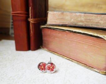 Cross stitch earrings