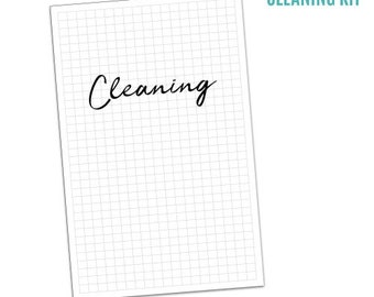 INSTANT DOWNLOAD: Cleaning Planner Printables - 13 sheets, PDF