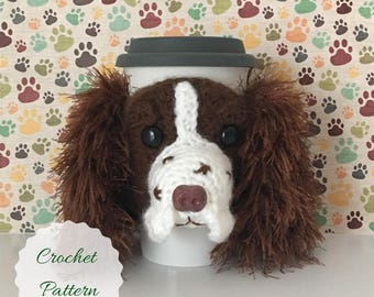 Dog Crochet Pattern - Amigurumi Dog - Crochet Pattern Dog - Crochet Dog Pattern - Crochet Instructions - Mug Cozy Pattern - Crochet Pattern