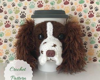 Dog Crochet Pattern - Amigurumi Dog - Crochet Pattern Dog - Crochet Dog Pattern - Crochet Instructions - Mug Cozy Pattern - Crochet Pattern