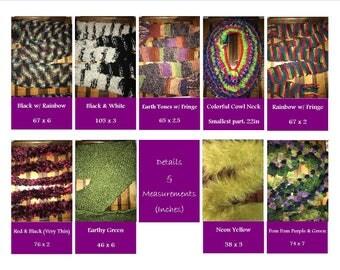 Hand Knit Scarves (Variations)