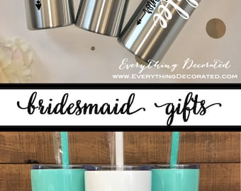 Personalized Tumbler, Bridesmaid Gift,Office Gift,Christmas Gift,Christmas, Personalized Gift, Personalized Water Bottle,Birthday Gift
