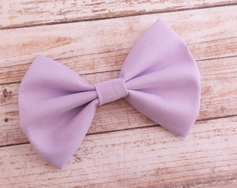 Solid Lavender Purple Fabric Hair Bow Clip or Headband / Lavender Hair Bow / Lavender Bow Headband / Light Purple Hair Bow / Purple Bow Clip