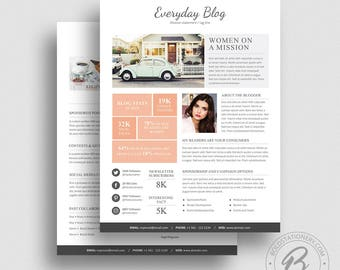 advertising media kit template - 3 page media kit template 05 ad rate sheet template press