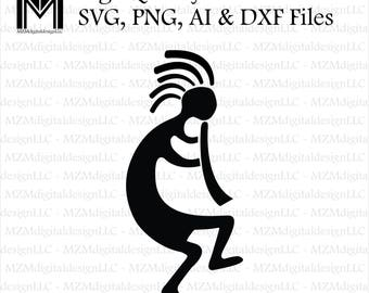 Kokopelli svg, png, ai and dxf Files -For Commercial & Personal Use- SVG for Cricut Silhouette and Cameo - Vinyl file - Tribal Southwest