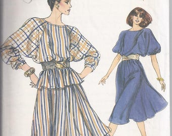 Vogue 8260 from the 1980's   Misses Dress, Top and Skirt   Bust 30 1/2-32 1/2   Rated Easy