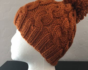 Teen / Adult Hat, Unisex, Hand-knitted.